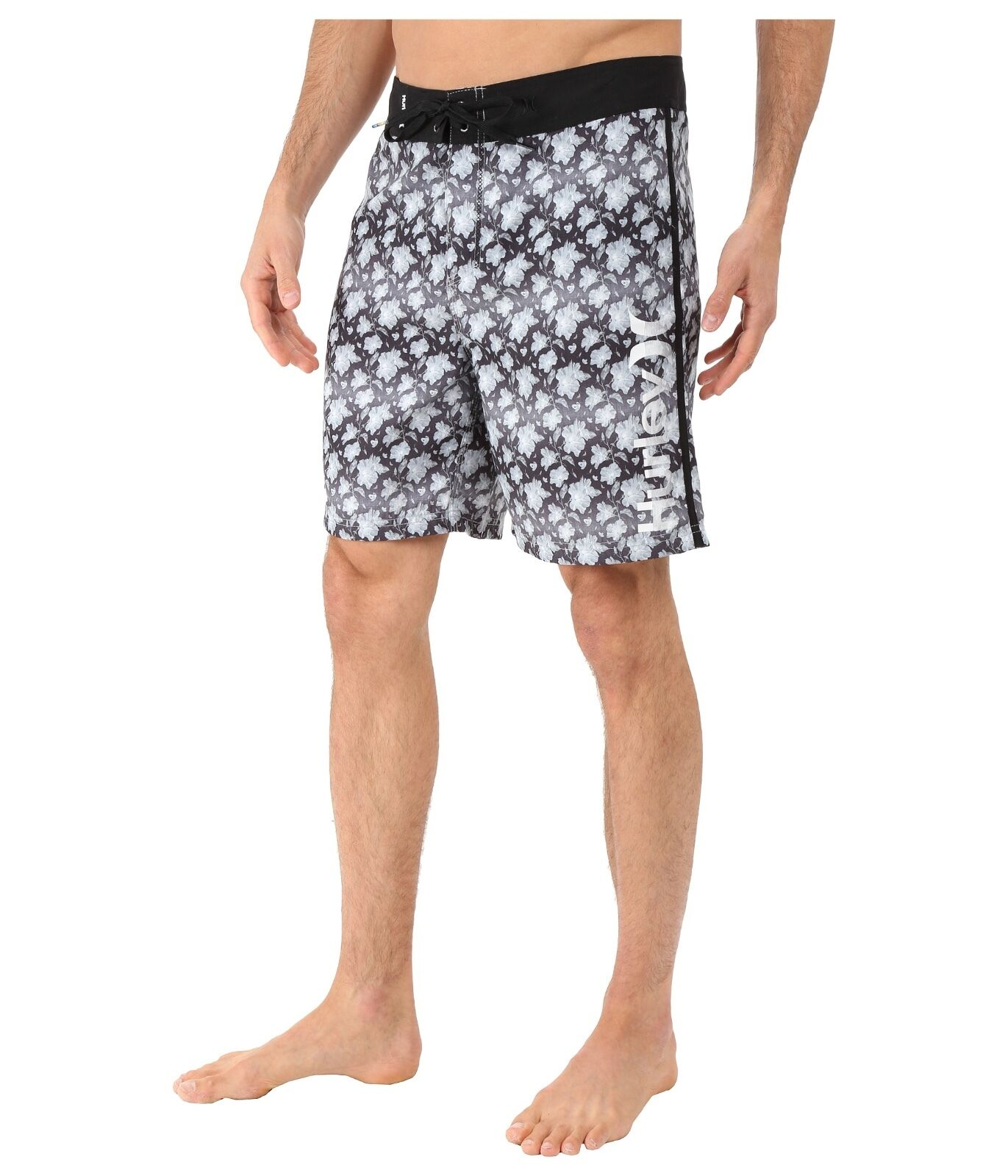 Hurley Mens Micro Boardshorts Surf Swim Trunk Swimsuit Bl...