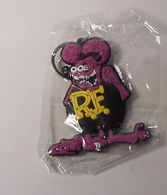 Rat Fink PVC Soft Double Sided Hard Action Figure Pendant Key Chain Keyring