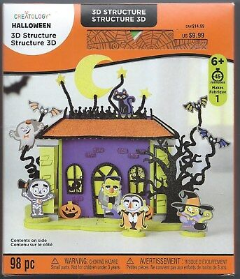 Creatology Halloween Haunted Mansion 3D Foam Structure 98 Pieces Ages 6+  NIB - Creatology Foam Halloween