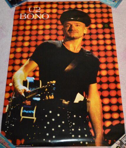 U2 Bono Poster Concert Tour Vintage 36x24 Lights Guitar Hat RARE