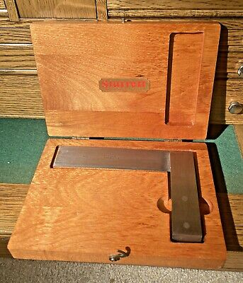 Starrett 4-12 Master Beveled Edge Square No.55 Machinist Tool Die Maker In Box