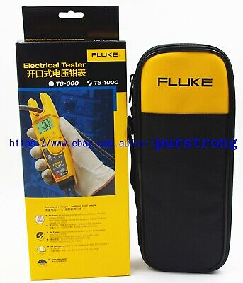 Fluke T6-1000 Clamp Continuity Current Electrical Tester Meter Field Sense Case