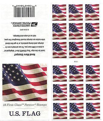 2017 US STAMP - US FLAG - Forever ATM Pane of 18 - Scott# 5162