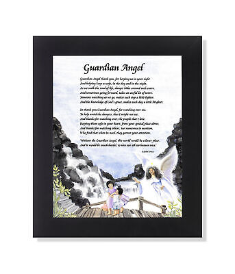 African American Black Guardian Angel Poem Wall Picture 8x10 Art Print
