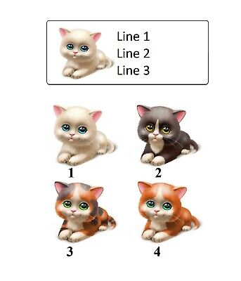 30 Personalized Return Address Labels Cute Cat Buy 3 Get 1 Free P 692