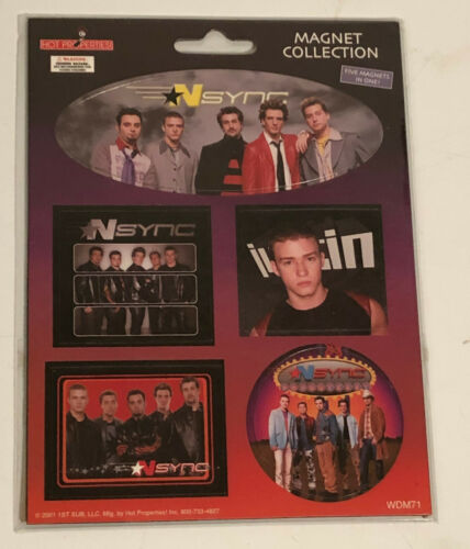NSYNC - Carded Set of 5 Magnets - Vintage in Original Pack