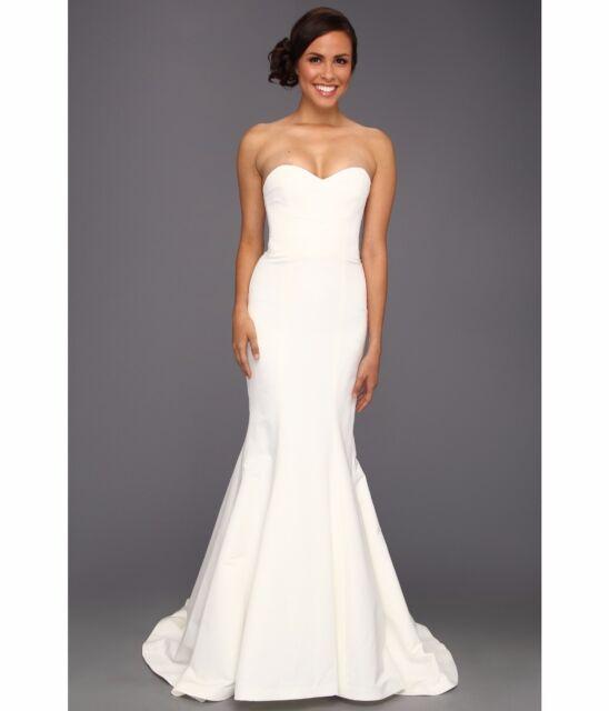 Nicole miller dakota silk faille strapless gown wedding for Ivory wedding dress meaning