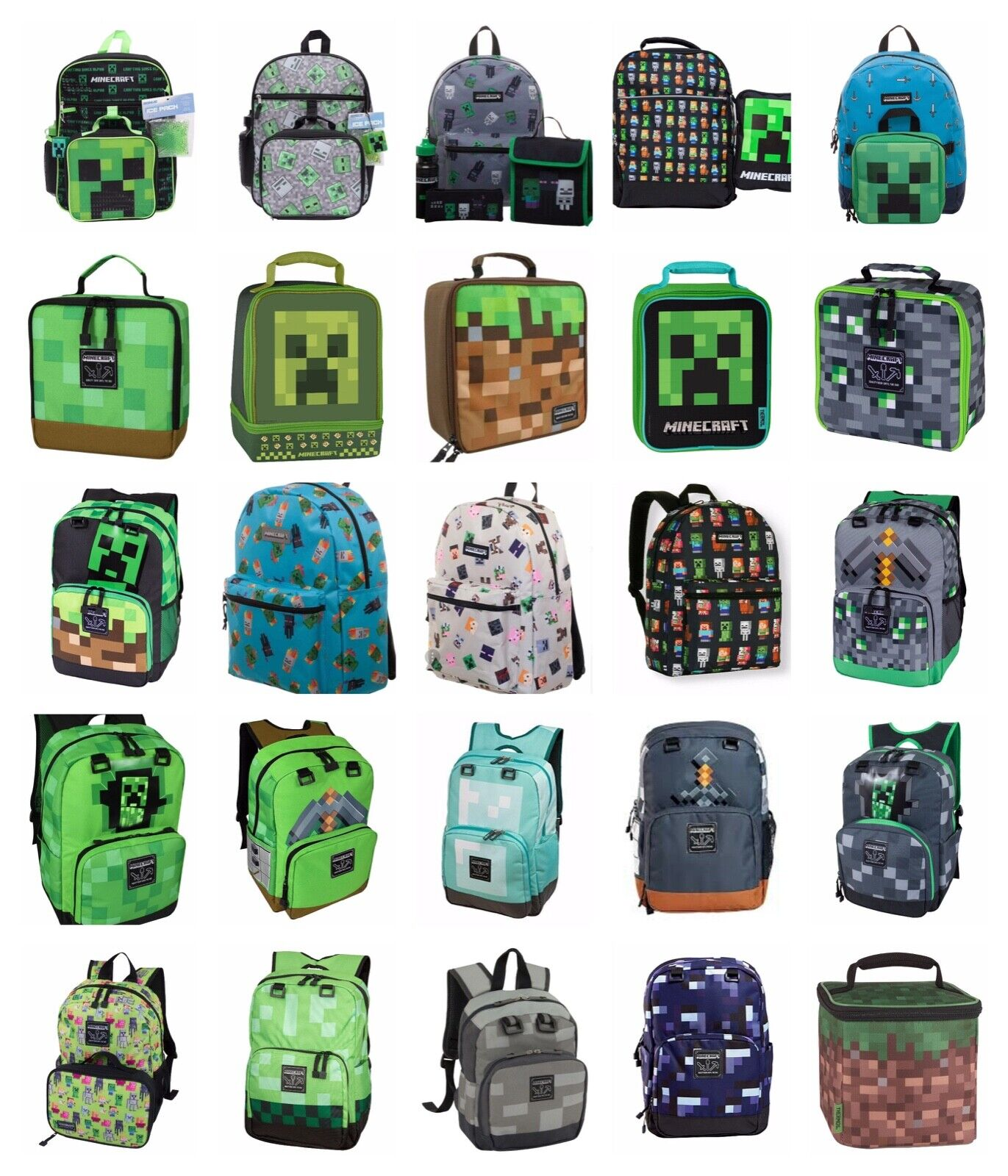 17 kids character school backpack lunch box