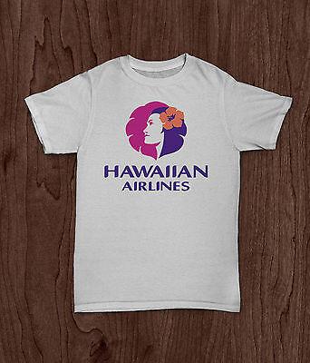 Hawaiian Airlines T Shirt Pre Shrunk White Top Quality
