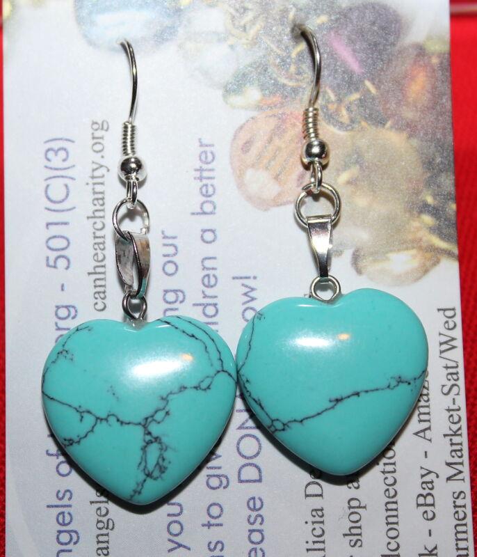 Natural Gemstones Turquoise Sterling Silver Earrings