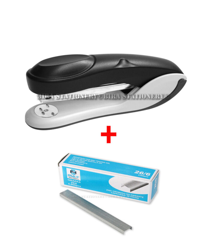 Stapler and Staples 24/6 and 26/6 with 16 sheets Capacity with 5000 PCS staples