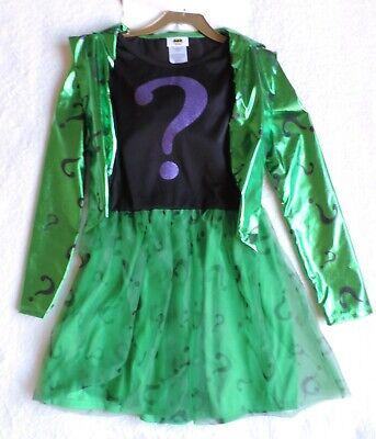 Riddler Costume For Girls (DC The Riddler Girl's Child Costume,)