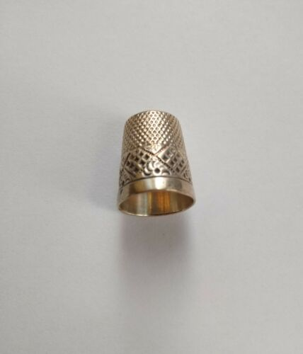 Vintage Sterling Silver Sewing Thimble 11 - Stamped Bell Hallmark