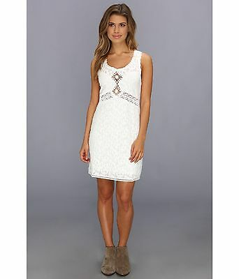 NEW Free People BEST SELLER Daisy Chain Waist MINI Dress Sz M White TOP SHIRT