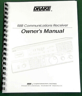 Drake MN-2000 Instruction Manual Premium Card Stock /& Protective Covers!