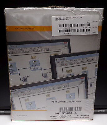 Used, NEW National Instruments LabVIEW 8.6.1 FOR NI ELVIS II 2009 Platform 6 DVD Set for sale  Union City