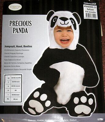 Karneval Baby Kostüm Süßer Precious Panda Bär Gr. 68 Fasching Amscan - Baby Panda Kostüm Halloween