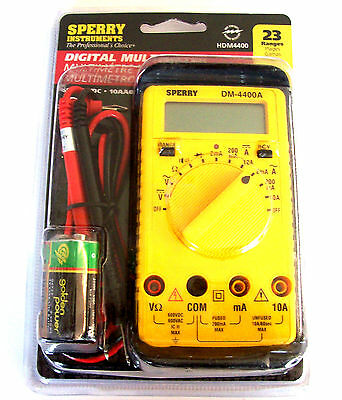 Sperry Instruments Digital Multimeter Dm-4400a 8 Functions 23 Ranges Hdm4400