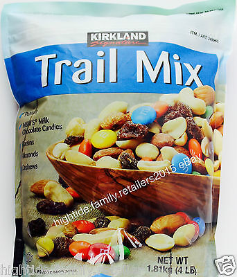 Kirkland Trail Mix Almonds Cashews Peanuts Raisins M&M