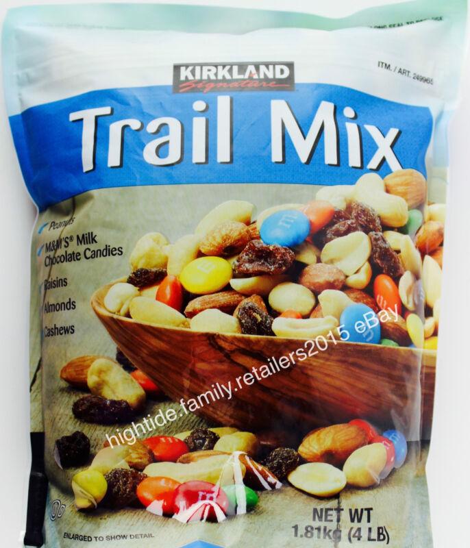 Kirkland Trail Mix Almonds Cashews Peanuts Raisins M&M