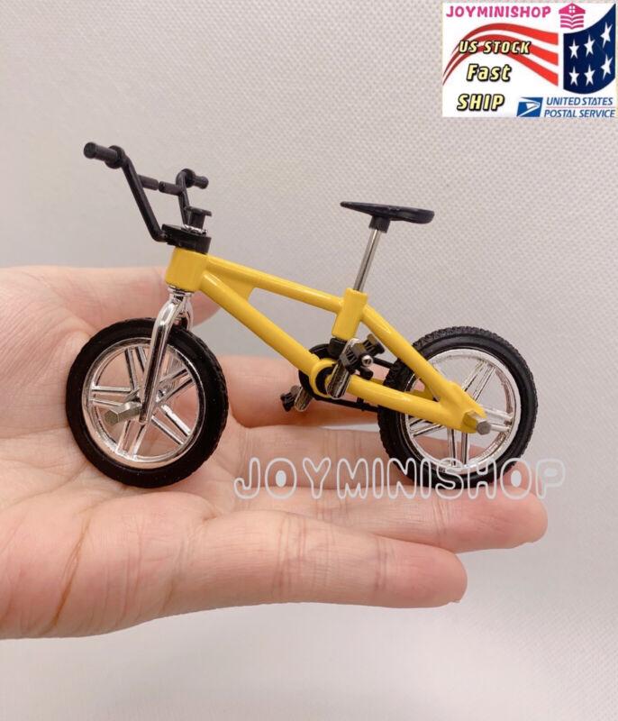 1/12 Dollhouse Bicycle Miniature Kid Mountain Yellow Bike Accessories Toy Dec