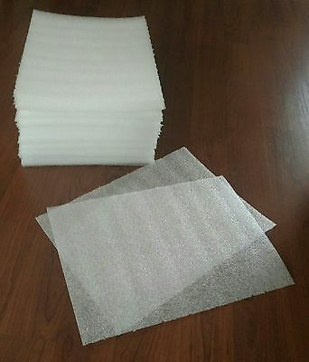 """1/8""""  PE foam packing sheets/ 12""""x12"""" sheets/ packaging wrap/ 100 pieces, used for sale  Webster"""