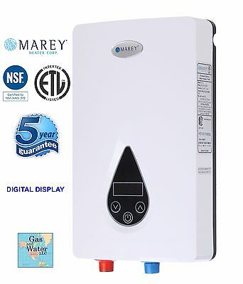 On Demand Electric Tankless Water Heater Digital Panel Etl Marey Eco110