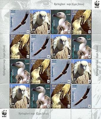Croatia 2017 MNH Griffon Vulture WWF 16v M/S Vultures Birds Stamps