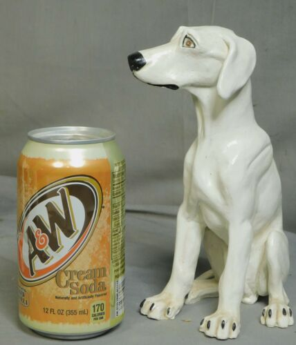 Vintage John Blair Indiana Art Ceramic Sculpture Statue Seated Hound Dog FACE