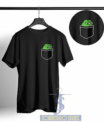 Pepe The Frog Pocket T Shirt Graphic Funny Internet Meme Boys Club 4Chan Tee