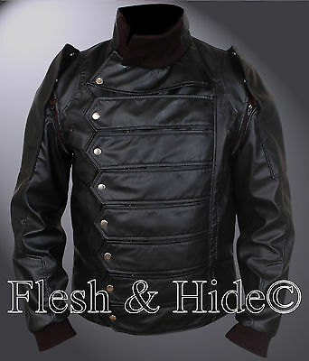 Captain America The Winter Soldier Bucky Barnes Removable Arm Vest Jacket