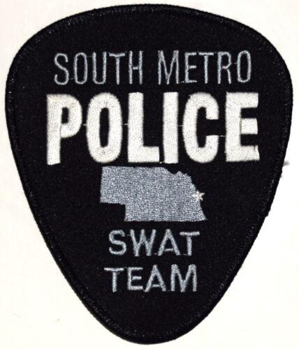SOUTH METRO – SWAT - NEBRASKA NE Police Sheriff Patch SUBDUED STATE OUTLINE STAR
