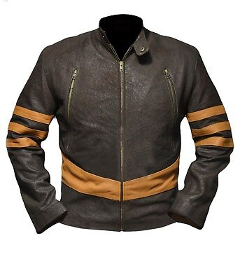 Xmen Kostüme (Xmen Origin Wolverine Logan Hugh Jackman Distressed Brown and Tan Jacket)