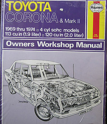 Toyota Corona And Mark Ii 4 Cylinder Models 1969-74 Haynes Shop Manual 230