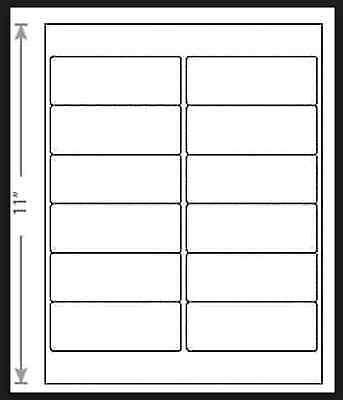 100 Sheets White Laser Inkjet 4x1.5 Digital Media Labels 12-up