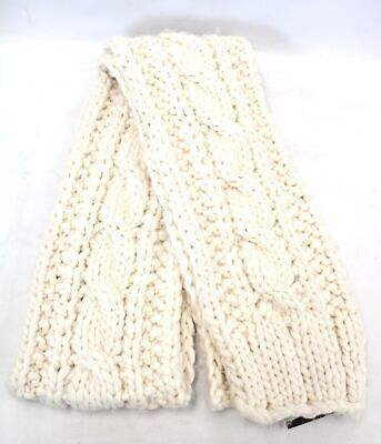 Ladies ABERCROMBIE & FITCH Cream 100% Acrylic Chunky Knit Scarf ONE SIZE...
