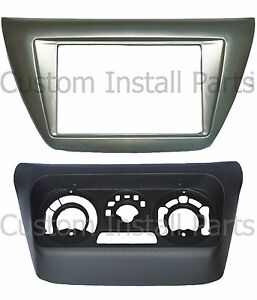 Aftermarket Radio Stereo Install Double Din Dash Kit w/ AC Relocation Kit Bezel