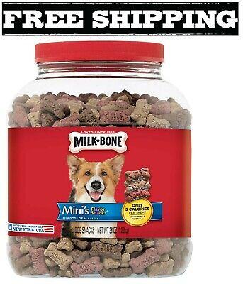 Milk-Bone Flavor Snacks Dog Treat, Mini Biscuits, 36-Oz Beef, Chicken and Bacon