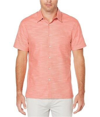 New   Perry Ellis Mens Short Sleeve Mens Button Up Variety Size   Color