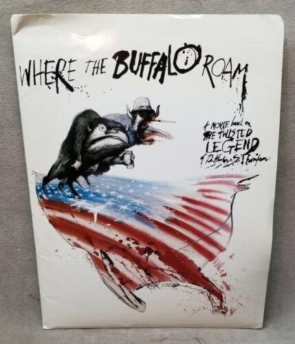 1980 Where the Buffalo Roam Movie Press Kit with15 Photographs.