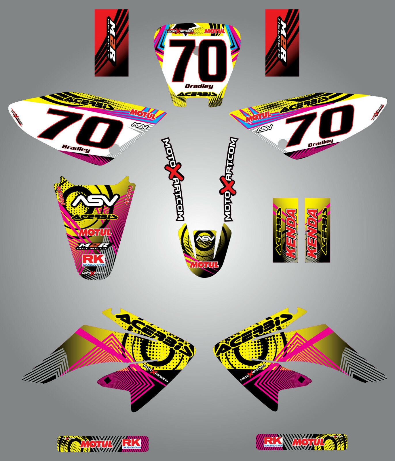 Custom graphics for KTM 50 2002-2008 STRIKE STYLE full sticker kit