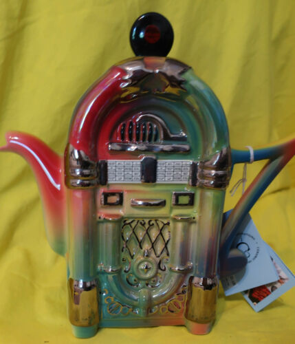 Ceramic Inspirations Jukebox Wurlitzer Style Teapot Limited Edition English 1373