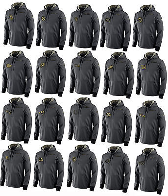 2016 Men's Salute to Service KO Pullover Hooded Sweatshirt Hoody Most Teams