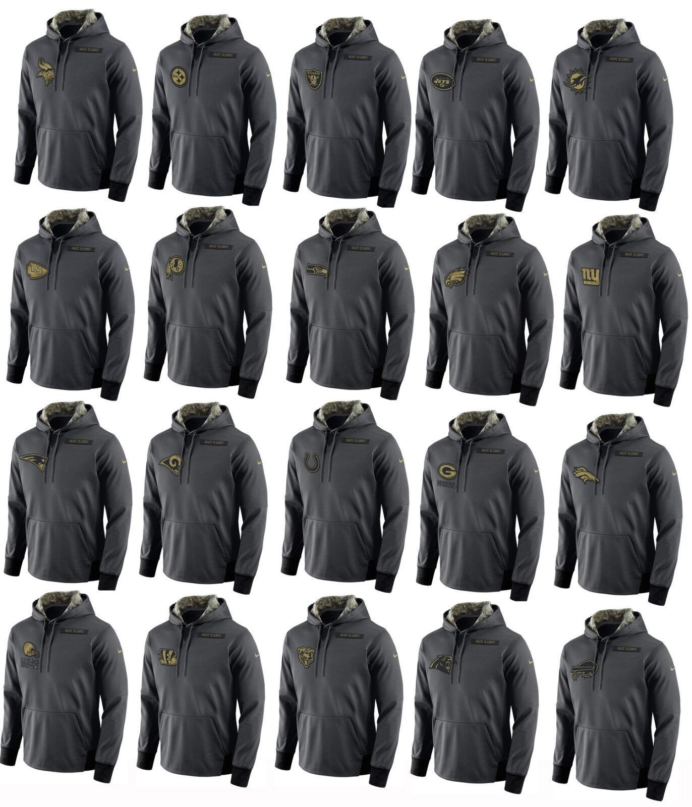 2016 Men's Salute to Service KO Pullover Hooded Sweatshirt Hoody Most Teams