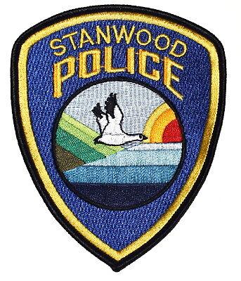 STANWOOD WASHINGTON WA Police Sheriff Patch CRANE BIRD OCEAN SUN ~