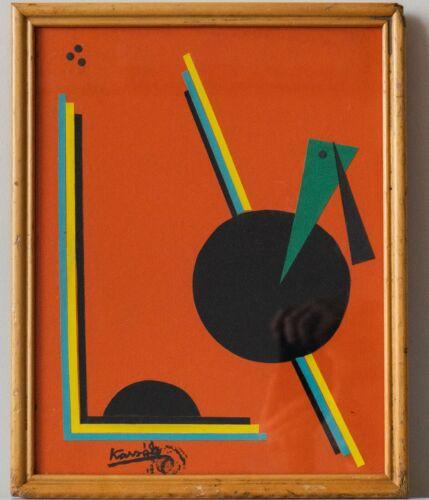 LAJOS KASSAK Hungarian Avantgarde Abstract Mid Century Bauhaus Kandinsky Old Art
