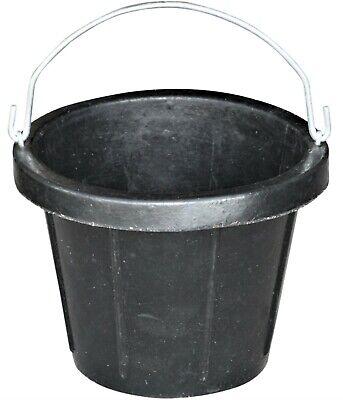 2.5 Gallon 10 Quart Rubber Feed Bucket Freeze No Crush Livestock Pet Sheep Goat