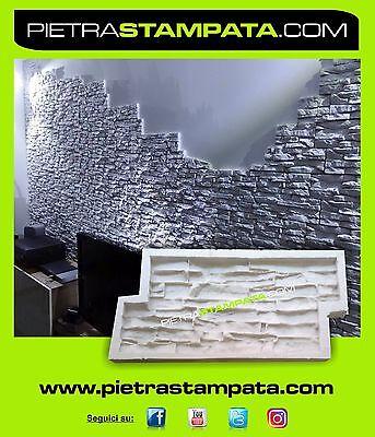 Polyurethane Rubber Mold Concrete Veneer Form Stone Plaster Tile Construction