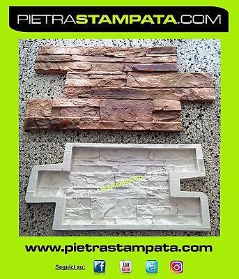 CONCRETE stone Polyurethane mould Plaster Concrete 3d WALL VENEER RUBBER MOLD