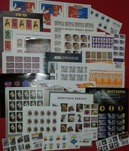 New / Usable 100 Assorted Mixed Designs FOREVER US USA Postage Stamps. FV $58.00